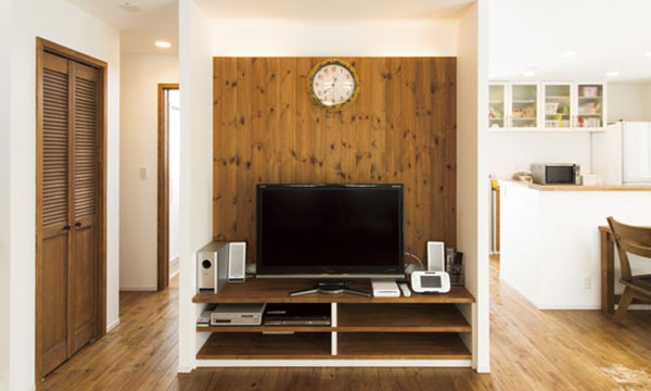 日立市・水戸市の注文住宅モリハウジングのテレビ台