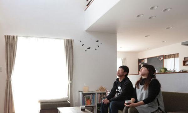 日立市・水戸市の注文住宅モリハウジングの吹き抜け天井